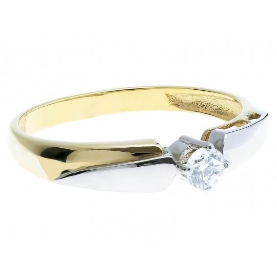 Nowoczesny wzór Złoty pierścionek