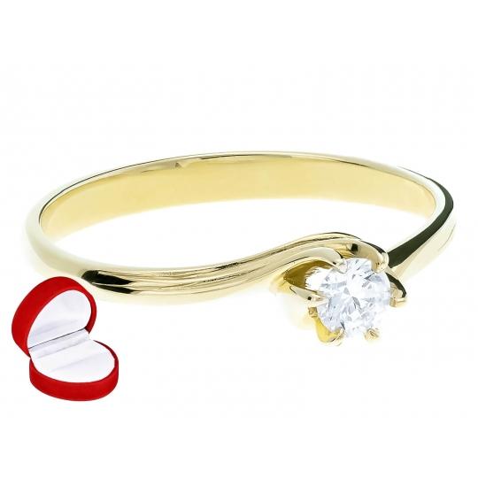 Piękny Złoty pierścionek z cyrkonią Oczko