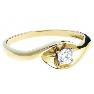 Złoty pierścionek Cyrkonia