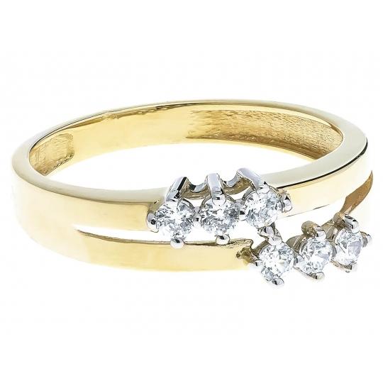 Złoty pierścionek na prezent NOWOCZESNY WZÓR