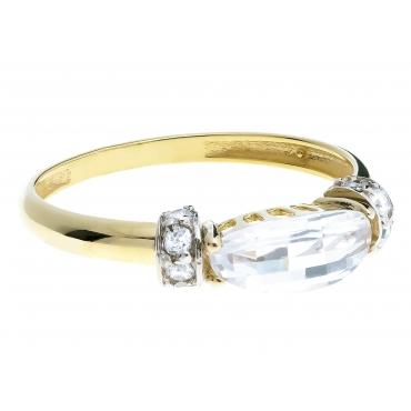 Piękny Złoty pierścionek Carski