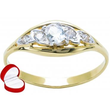 Złoty pierścionek z Cyrkoniami ponadczasowy