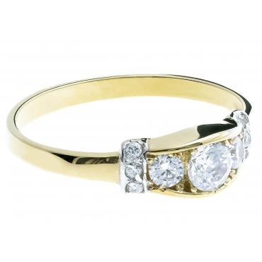 Złoty pierścionek Elegancki i Stylowy