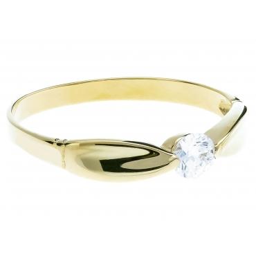 Nowoczesny Złoty pierścionek Obrączka