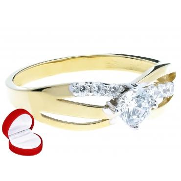 ELEGANCKI NOWOCZESNY Złoty pierścionek