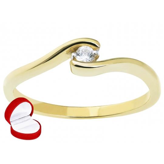 Delikatny Asymetryczny Złoty pierścionek