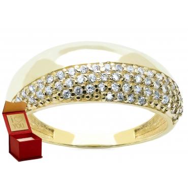 Gruba obrączka Złoty pierścionek