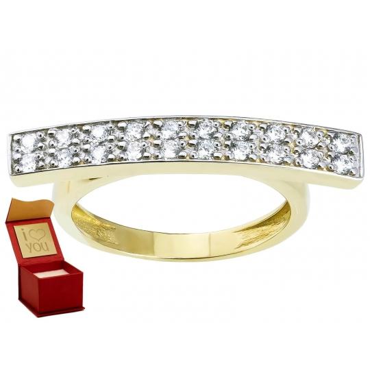 Modny Złoty pierścionek gwiazd