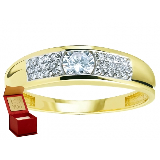 Obrączka złoty pierścionek z Cyrkoniami