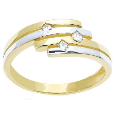 Złoty pierścionek Obrączka WZÓR PASKI