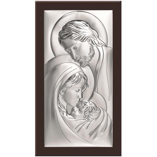 Obraz Św. Rodzina z Widocznym Brązowym Drewnem