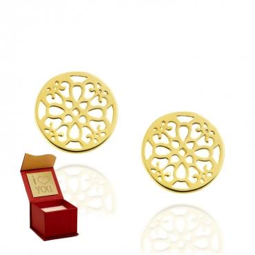 Złote kolczyki na sztyfcie Maroko próba 585