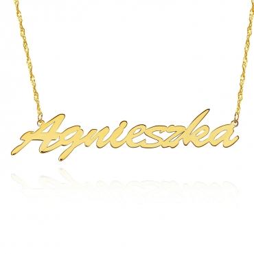 Złoty Personalizowany Naszyjnik Imienny