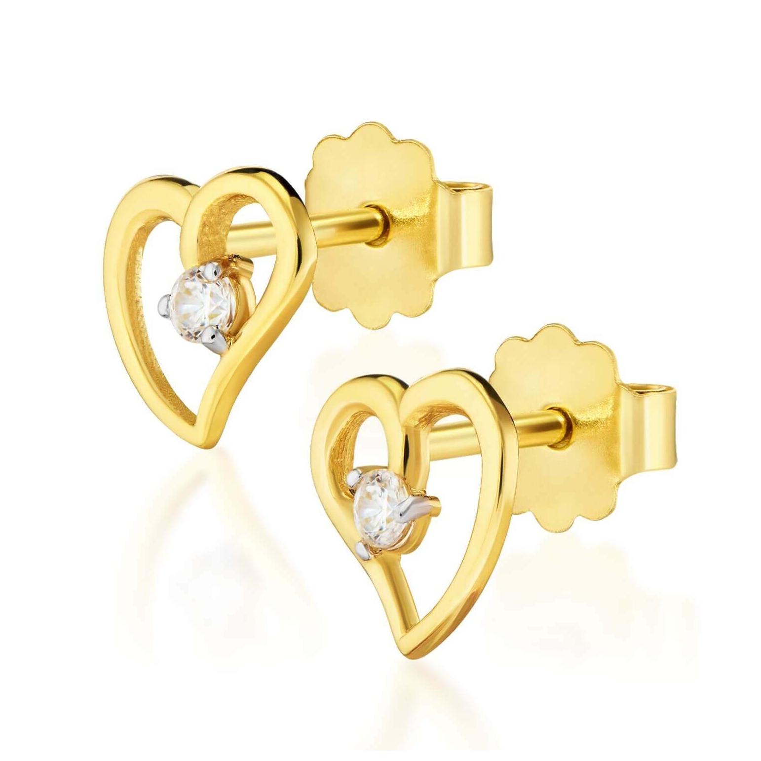 Złote kolczyki Nasza Miłość Little Things próba 585