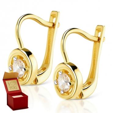 Złote kolczyki Lania