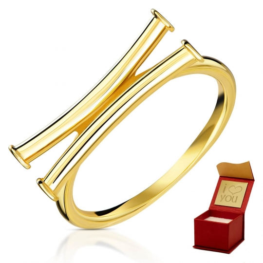 Złoty pierścionek Papirus