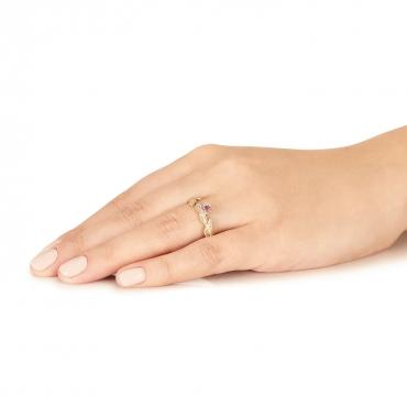 Złoty pierścionek Rosa