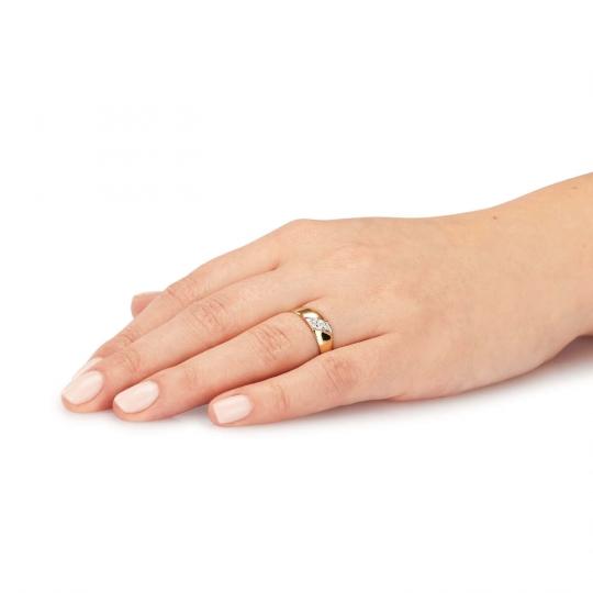 Złoty pierścionek Czauma próby 585