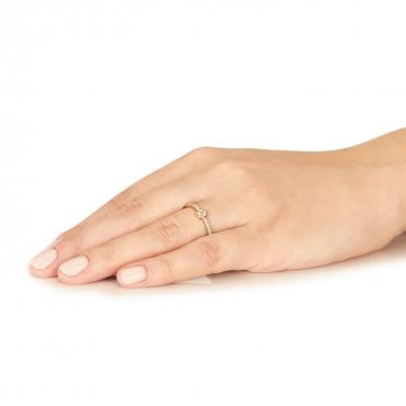 Złoty pierścionek Szczęśliwy