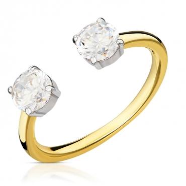 Złoty pierścionek z cyrkoniami Galaxy