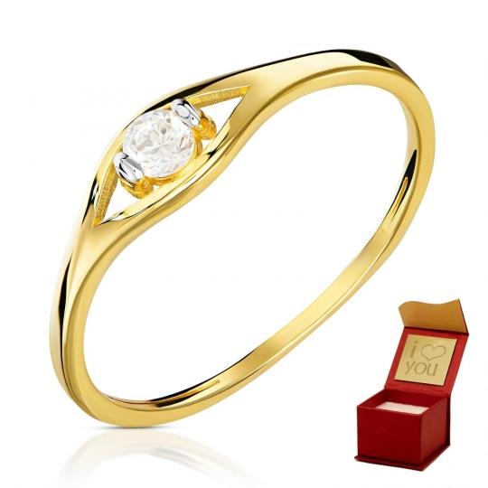 Złoty pierścionek Łezka