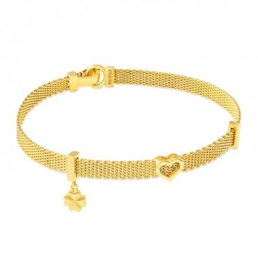 Złota bransoletka Happiness Serce próba 585 Exclusive