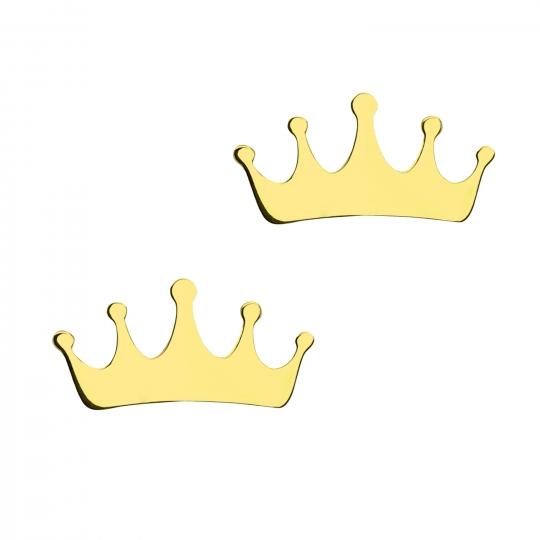 Złote kolczyki Queen
