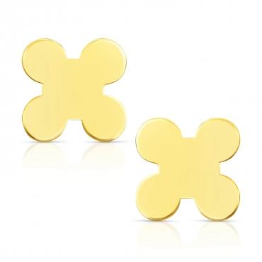"""Złote kolczyki na sztyfcie """"X"""""""