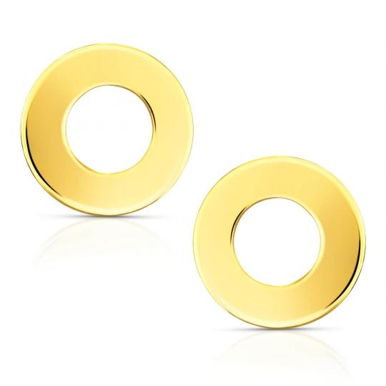 Złote kolczyki kółka Little Things