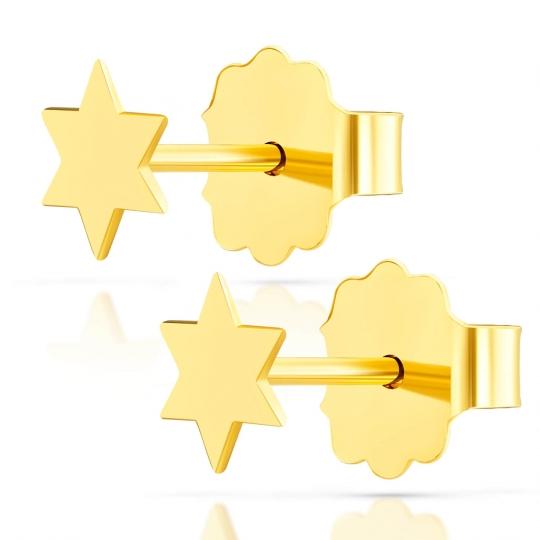 Złote kolczyki Mini Gwiazdeczki