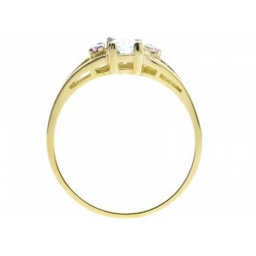 Złoty pierścionek z markizą R