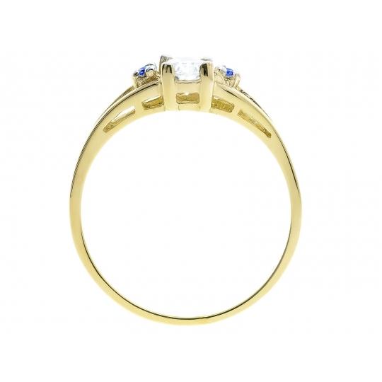 Złoty pierścionek z markizą N