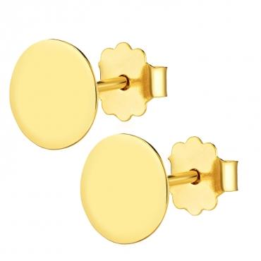 Złote kolczyki Big End próba 585