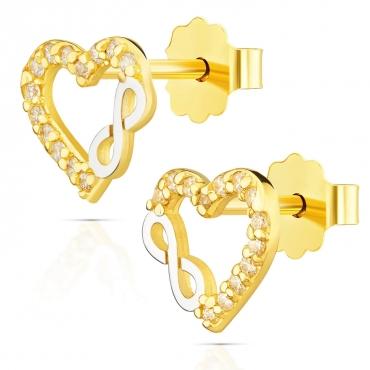 """Złote kolczyki """"Wieczna miłość"""""""