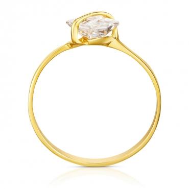 Złoty pierścionek Przepaska