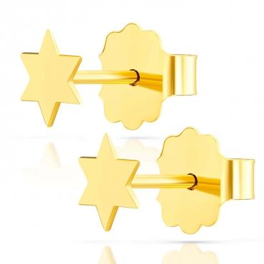 Złote kolczyki Mini Gwiazdeczki próba 585