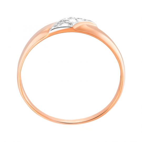Złoty pierścionek Czauma próby 585 różowe złoto