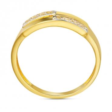 Złoty pierścionek Podwójna Obrączka II