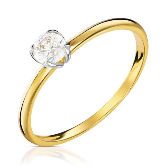 Złoty pierścionek Zaręczynowy I