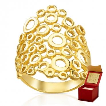 Złoty pierścionek kółeczka