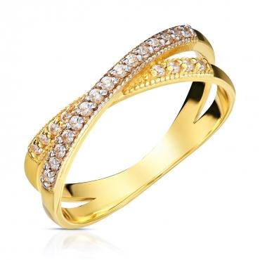 """Złoty pierścionek Obrączka """"Cudowny"""""""