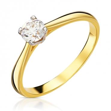 Złoty pierścionek klasyczny próba 585