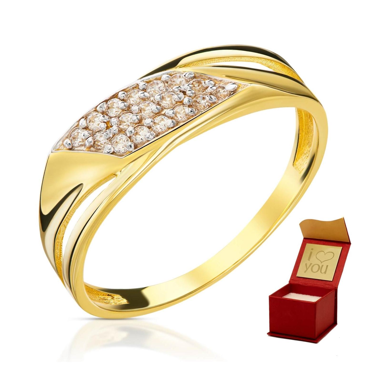 Złoty pierścionek Finezja