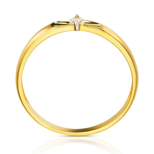 Złoty Pierścionek Żłobiona Obrączka