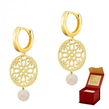 Złote kolczyki Marokańska Perła