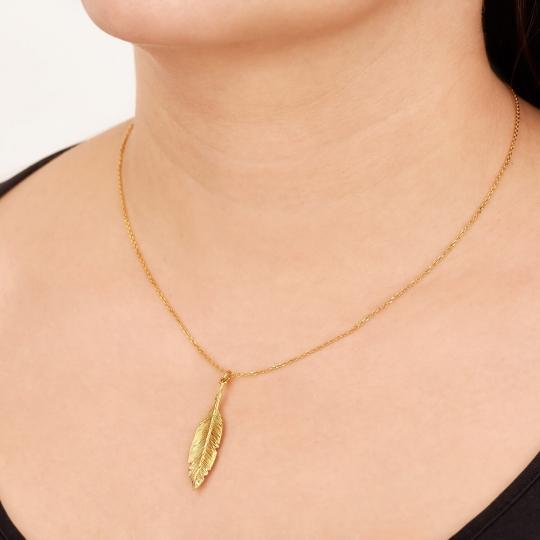 Srebrny naszyjnik pozłacany 18k złotem Łabędzi Czar