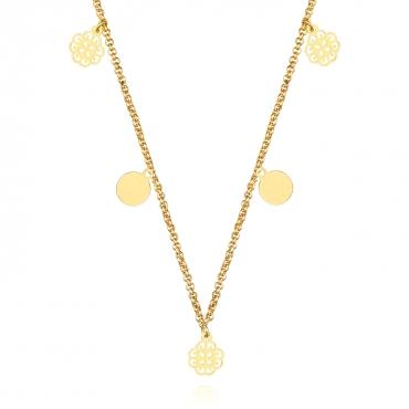 Srebrny naszyjnik pozłacany 18k złotem Mirelle