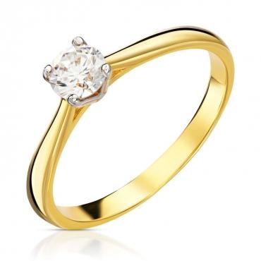 Złoty pierścionek klasyczny Classic