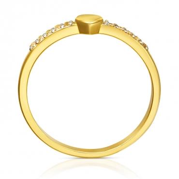 Złoty pierścionek Małe Serduszko