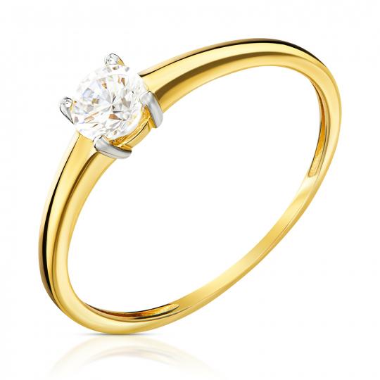 Złoty pierścionek Zaręczynowy II